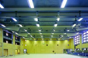 Neubau der Doppelsporthalle Neue Kantstraße in Berlin-Westend